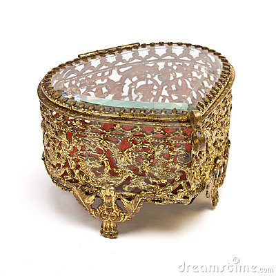 Free Vintage Trinket Box Royalty Free Stock Photography - 18220797