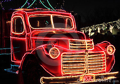 Vintage Truck Decorated Holiday Lights