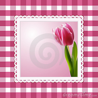 Vintage tulip background
