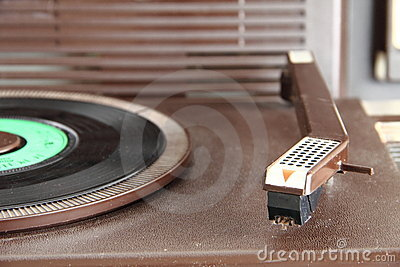 Vintage turntable from the seventies