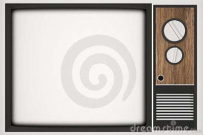 Vintage TV with place for your photo
