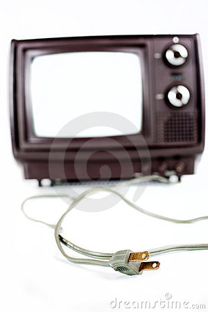 Vintage TV on white