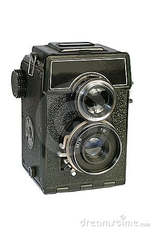 Free Vintage Two Lens Medium Format Camera. Stock Images - 4020994