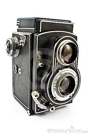 Free Vintage Two Lens Photo Camera Royalty Free Stock Photo - 18416725