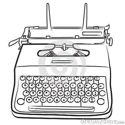 Vintage typewriter - bn