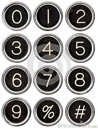 Free Vintage Typewriter Number Keys Stock Images - 25980604