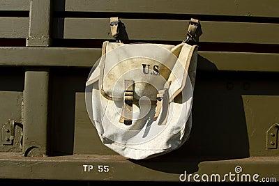 Vintage U.S. millitary satchel.