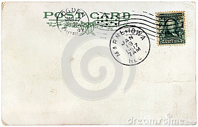 Vintage US Postcard, 1907 Editorial Photo
