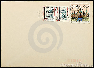 Vintage used mailing envelope