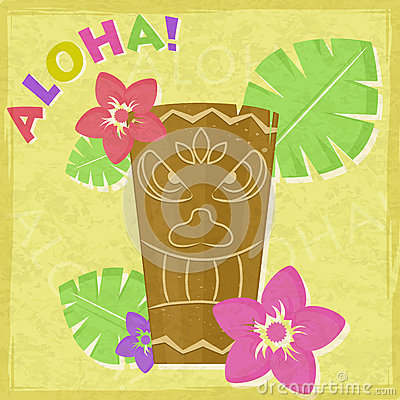 Vintage Vacation Retro Aloha Card