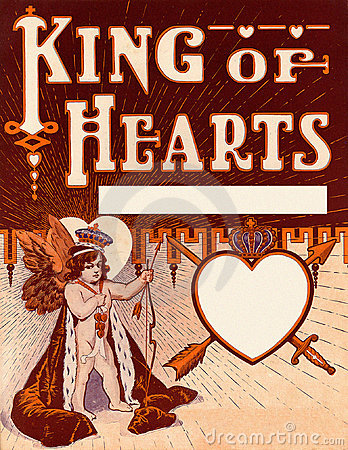Vintage Valentine King of Hearts background