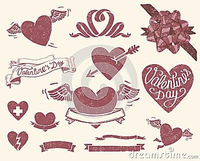 Vintage Valentine's day set