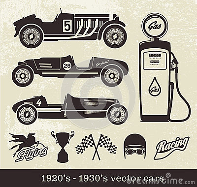 Free Vintage Vector Cars Stock Photo - 34620690