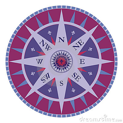 Vintage vector compass - rose wind