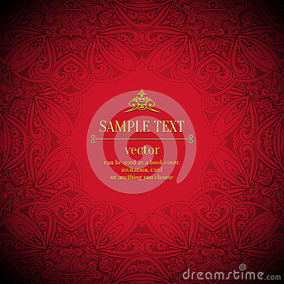 Free Vintage Vector Pattern. Hand Drawn Abstract Background. Decorative Retro Banner. Can Be Used For Banner, Invitation, Wedding Card Royalty Free Stock Images - 46672509