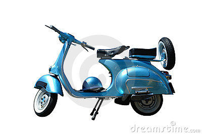 Vintage vespa (path included)