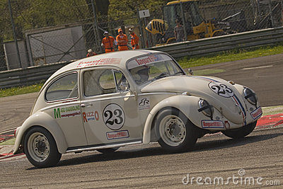 vintage volkswagen beetle racing editorial photo image