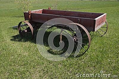 Vintage wagon WWII Alaska Highway