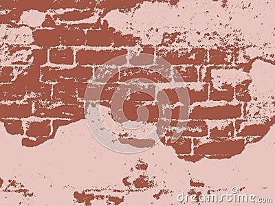 Vintage wall,  vector