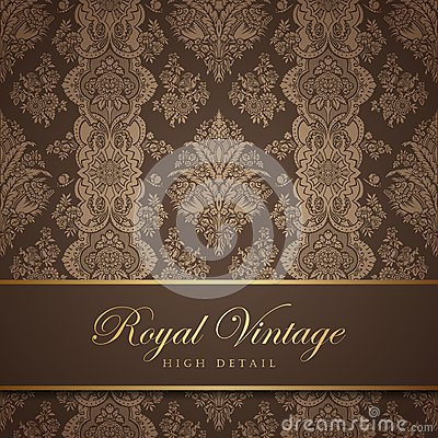 Free Vintage Wallpaper Design. Flourish Background. Flo Royalty Free Stock Photography - 32013127