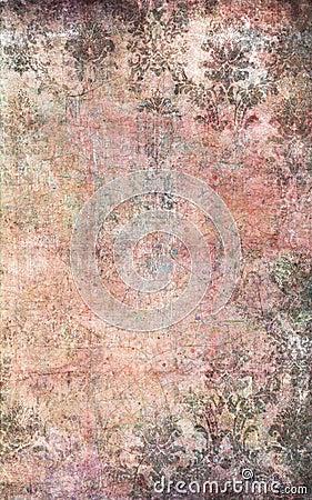 Damask Wallpaper on Pink And Grey Damask Textured Wallpaper