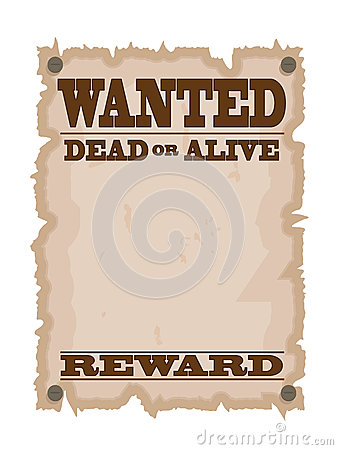 Vintage wanted poster