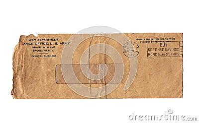 Vintage War Dept Envelope