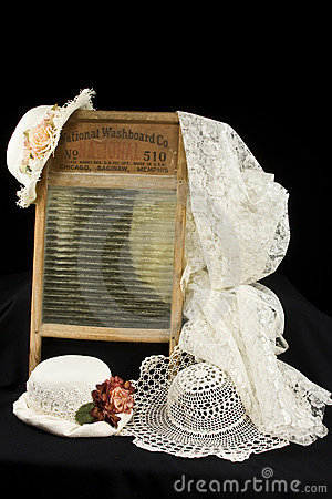 Vintage Washboard and hats