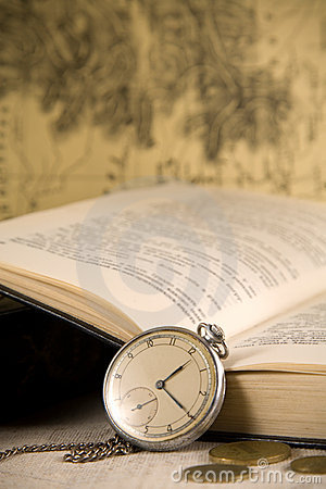 Vintage watches and book