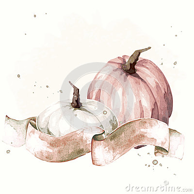 Free Vintage Watercolor Thanksgiving Illustration Royalty Free Stock Photography - 45741027