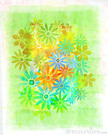 Vintage watercolour flowers