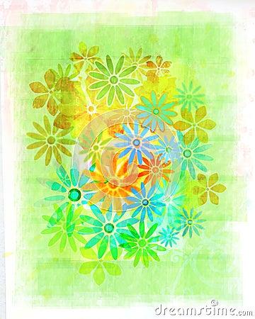 Vintage watercolour flowers