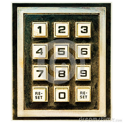 Free Vintage Weathered Keypad With Reset Buttons Stock Photography - 55719912