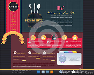 Vintage Website design  elements