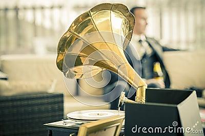 Vintage wedding gramophone