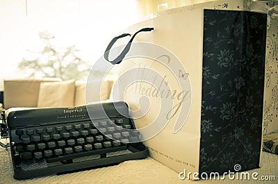 Vintage wedding typewriter