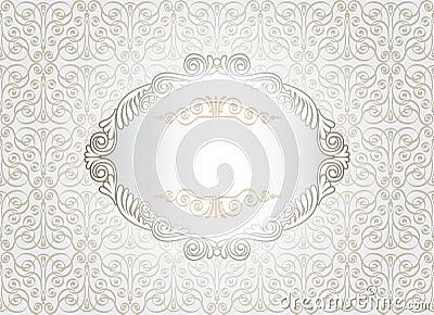 Vintage white frame
