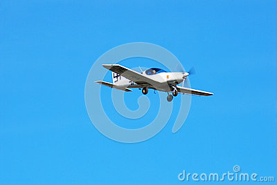 Vintage white German airplane in the sky Editorial Image