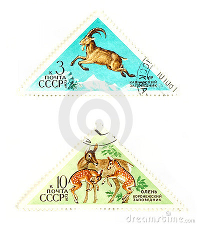 Vintage wildlife stamps