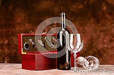 Vintage wine case