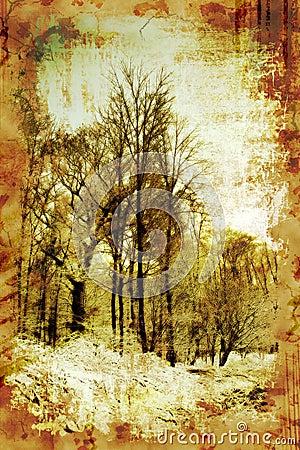 Vintage Winter Trees