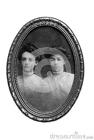 Vintage Women Portrait/Framed