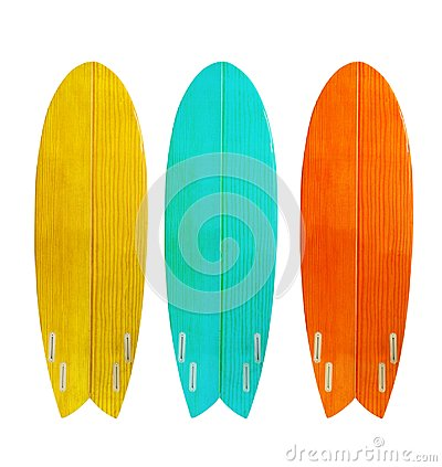 Free Vintage Wood Surfboard Isolated On White Royalty Free Stock Photography - 113958847