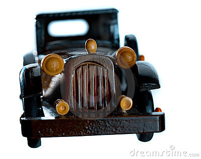 Vintage wooden car toy model