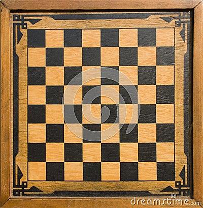 Vintage wooden chessboard
