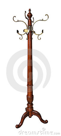 Vintage Wooden Coat Rack Royalty Free Stock Images Image