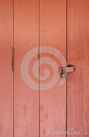 Vintage wooden door Stock Photo