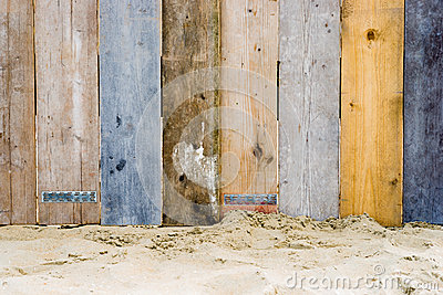 A vintage wooden fence