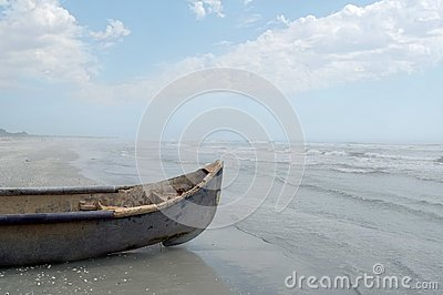 Vintage Wooden Fisherman Boat