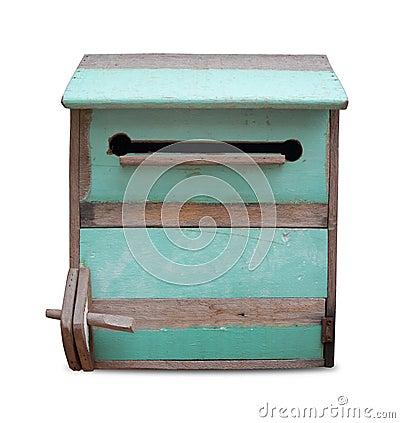Vintage wooden mailbox.